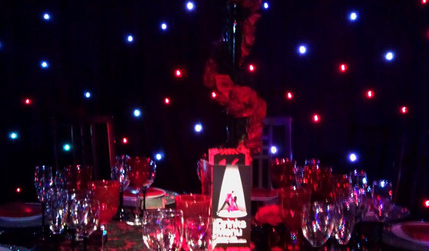Black Serge Colour LED Starcloth